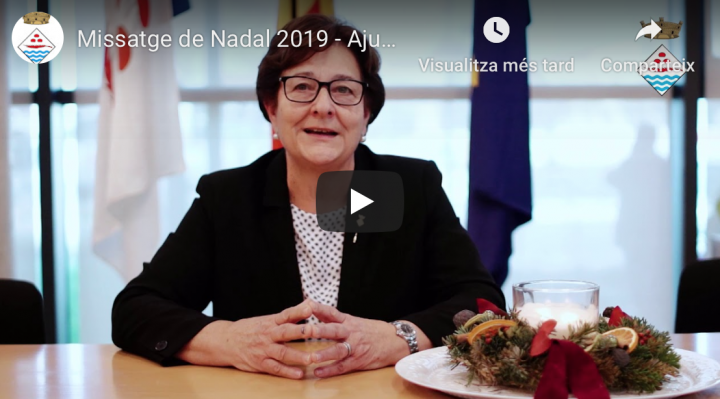 Missatge alcaldessa Nadal 2019